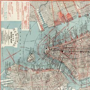 New York City map 1880