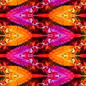 ABSTRACT PATTERN 14 butterflies arrows moths ORANGE FUCHSIA PINK BROWN SUMMER AUTUMN PSMGE