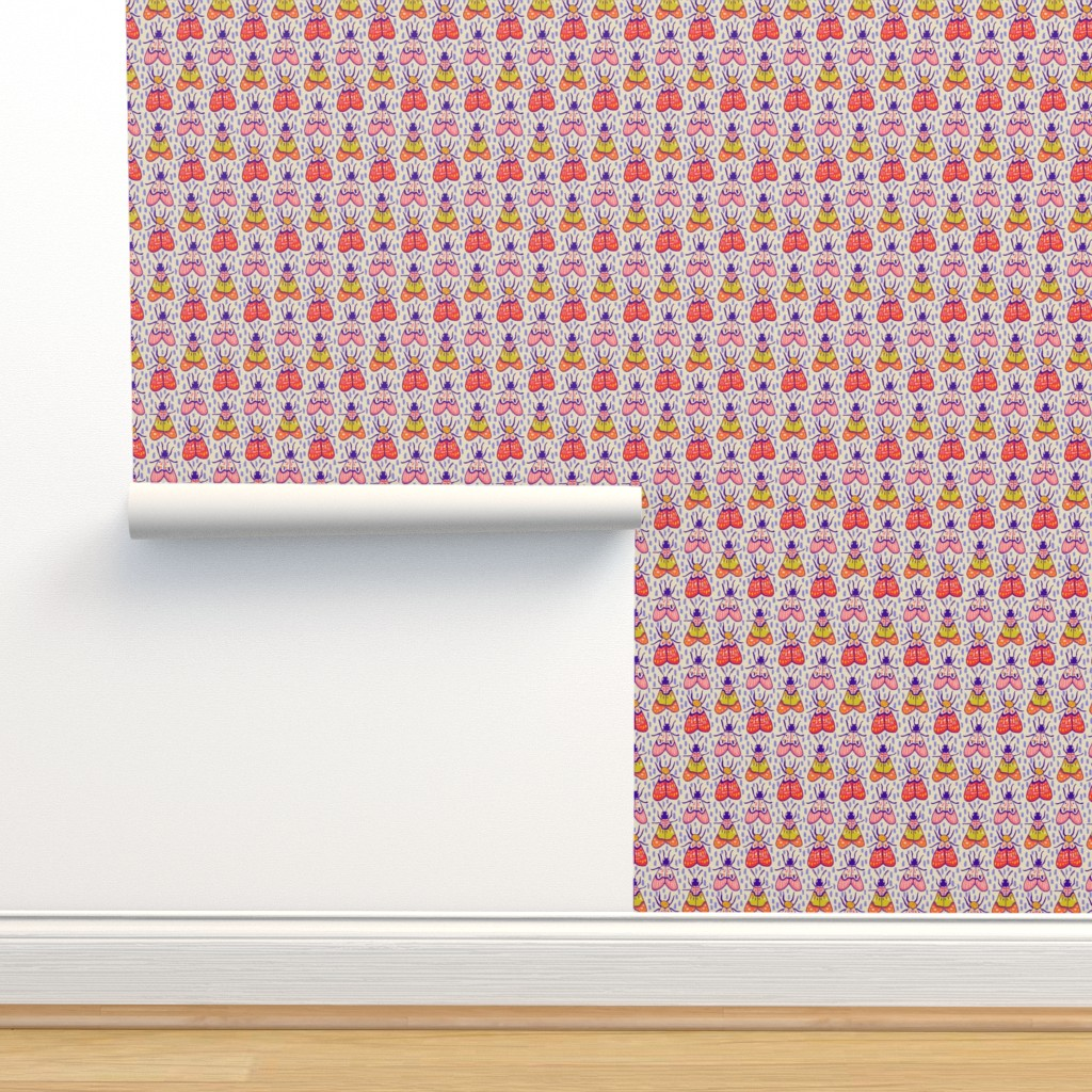 Isobar Durable Wallpaper featuring Sunny Moths by jacquelinehurd