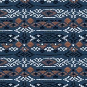 Minimal vintage mudcloth bohemian mayan abstract indian summer love aztec navy blue boys
