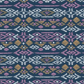 Minimal vintage mudcloth bohemian mayan abstract indian summer love aztec navy blue pink