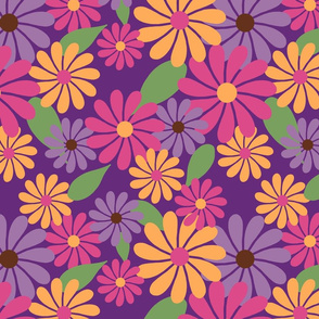 Bright Floral Purple