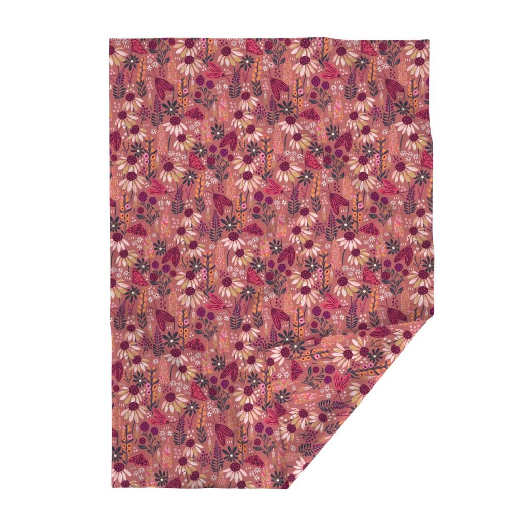 Lakenvelder Throw Blanket featuring Moth Garden by jill_o_connor
