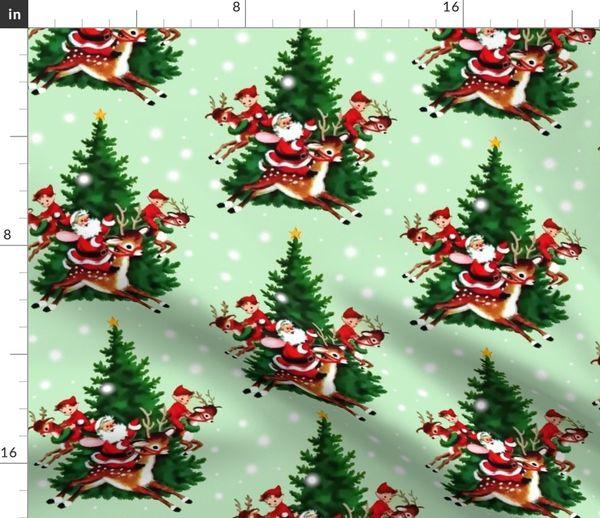 Xmas-Festive SHABBY CHIC NATURAL CHRISTMAS SNOWMAN STOCKING BIRD COTTON FABRIC