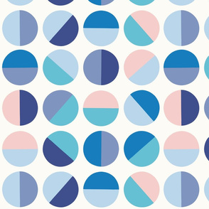 half circles in blue by Pippa Shaw