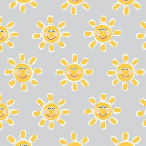 Smiley Sunshine on Grey