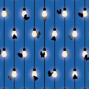 Moths on Fairy Lights