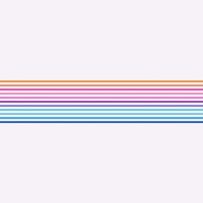 vintage t-shirt stripes rainbow on light pink