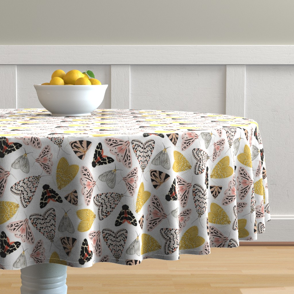 Malay Round Tablecloth featuring Moth's beauty  by jenniejoyce