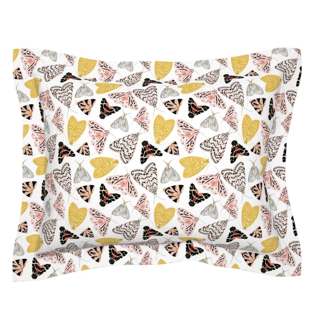 Sebright Pillow Sham featuring Moth's beauty  by jenniejoyce