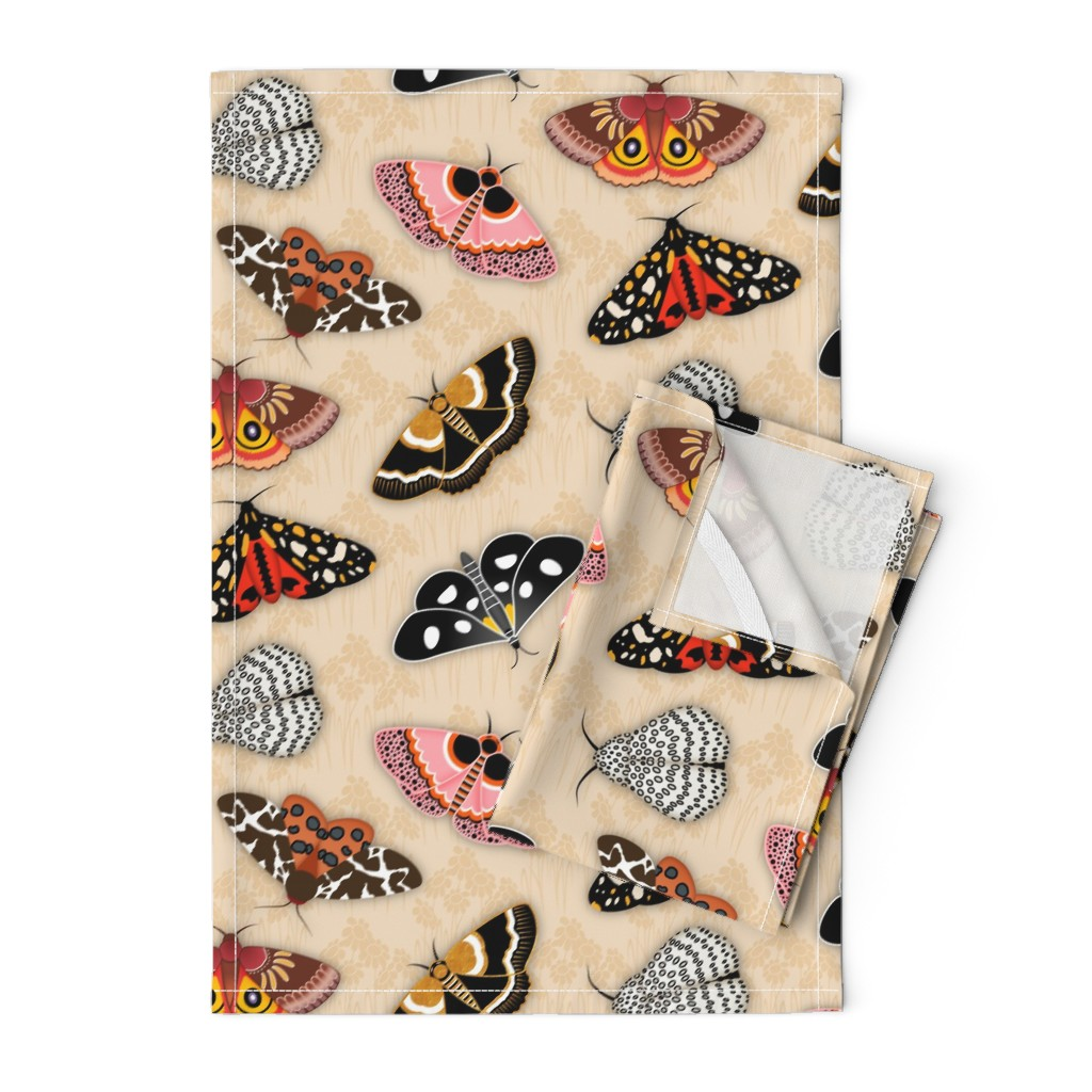 Orpington Tea Towels featuring Moths by elsy