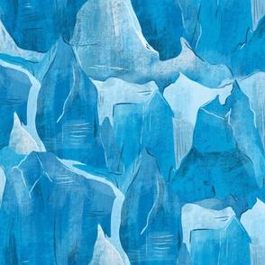 Polar ice floe - blue winter