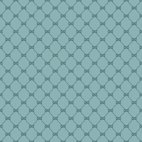 Rope Knot Grid Neutral Turquoise