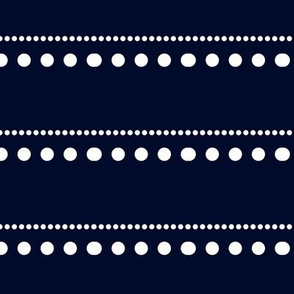white dots on blue-black