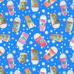 Christmas Coffee Cups  in Ice Blue