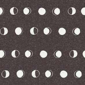 moon phase fabric - coffee sfx1111 - moon fabric, nursery fabric, baby fabric, boho fabric, witch fabric, muted fabric, earth toned fabric, muted colors
