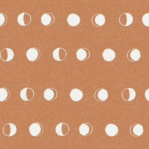 moon phase fabric - caramel sfx1346 - moon fabric, nursery fabric, baby fabric, boho fabric, witch fabric, muted fabric, earth toned fabric, muted colors