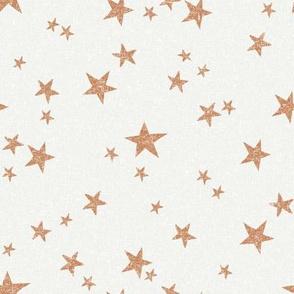 stars fabric - caramel - sfx1346 - star fabric, nursery fabric, baby fabric, simple fabric, minimal fabric, baby design