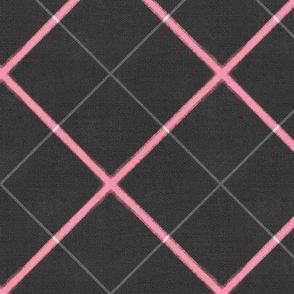 Sleepy Series Pink Tattersall Dark Jumbo