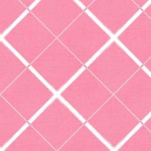 Sleepy Series Pink Tattersall Mid-tone Jumbo
