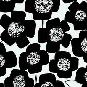 PopUpFlower-Black/OffWhite