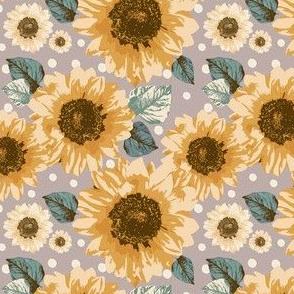 Golden Sunflowers 4x4