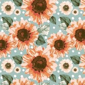 Sunset-Sunflowers 4x4