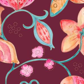 Wild Silk Moths merlot