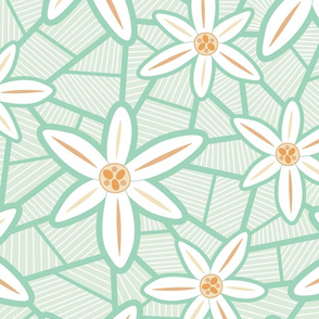 LARGE Lilies (Mint)