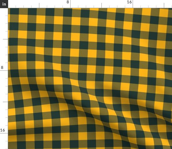 Green Bay Packers Buffalo Plaid Team Co Spoonflower
