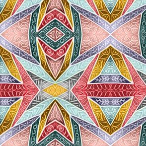 Glazed Whitework--earth tones