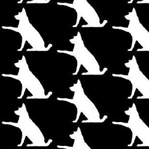 Australian Shepherd Border Collie Silhouette BLACK