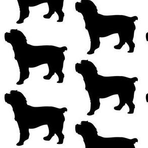 Cockapoo Dog Silhouette, Black on White