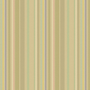 In the Garden Watercolor Stripes