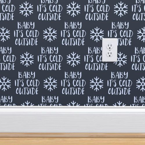 9149611 baby it s cold outside blue on blue christmas winter holiday lad19 by littlearrowdesign