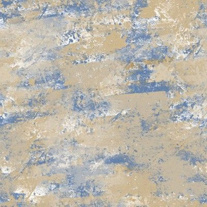 Dusty Blue Neutral Painted Canvas