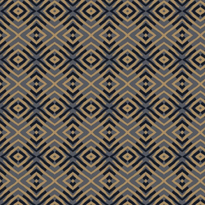 tribal diamond gold and blue