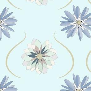 Baby Blue Floral ©️ GargoyleSentry