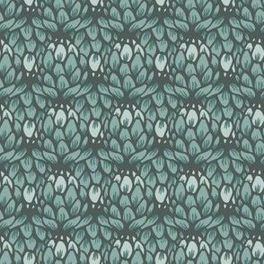 artichoke flower green monochrome