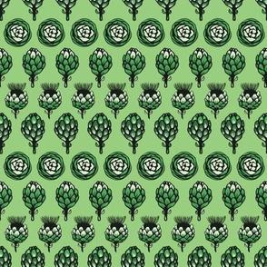 Green artichokes