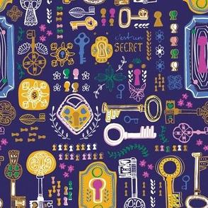 Locks and Keys - fabric