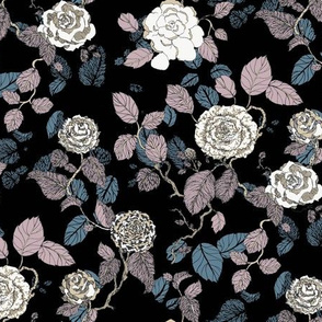 Inky Roses Hand-Drawn