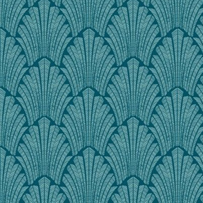 Art deco teal Small Scale