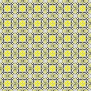 19-11aa Geo Geometric Gray Yellow Small
