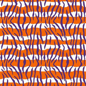 Animal Print Stripes Orange Purple White