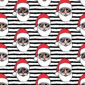 All the Santas - Santa Claus w/ sunnies - black stripes - Christmas C19BS