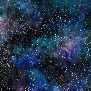 Galaxy deep space seamless, thousands of stars, starry night sky