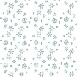 Grey Snowflakes verdigris on white