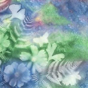 Blue Green Pink Ginkgo Fern Cosmos On Point