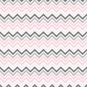 Gray pink white chevrons